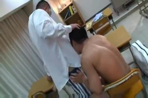 powerful asian Teacher And Muscle Student sucking And fucking.