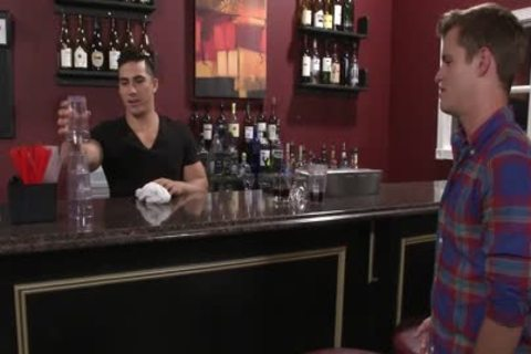 Hefty homosexuals fucking In A Bar