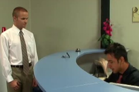 lusty blond homosexual receives banged In The Office