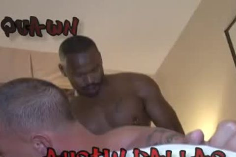 bareback Groupsex - three darksome boyz 1 White gap