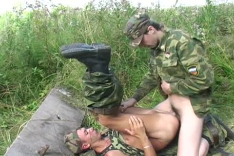 A homosexual Soldier Is hammered By His Boss