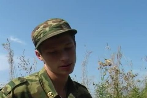 A young Military duett have a pleasure Some Sex outside