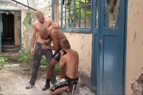 threesome Outdoor rough Sex
