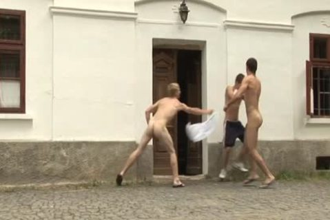 Three lustful homo fellows Love hardcore ass pounding