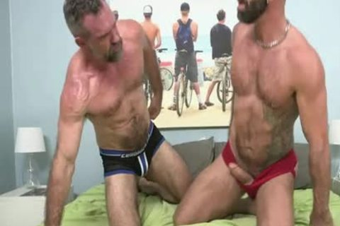 Drew Sebastian pokes Peter coarse bare