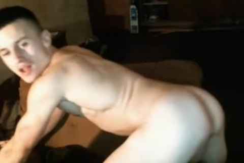 Ukraine, handsome bisexual lad Cums, nasty wazoo