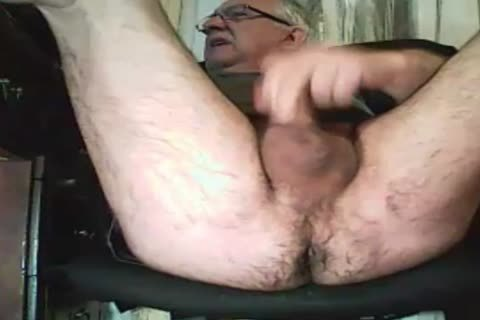 old man stroke And Play With A dildo