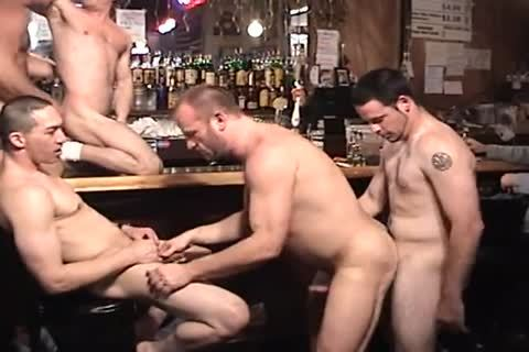Muscle husband nail Each Other In The Keister In The Bar.