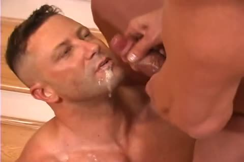A pair Of daddy Body Builders Are All Over Each Other