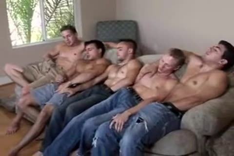 Gay circle jerk in the shower