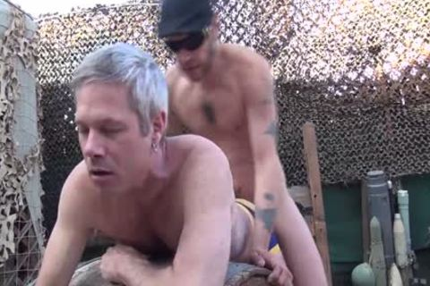 Blond chap acquires His booty Rimmed And pounded Outside doggy style