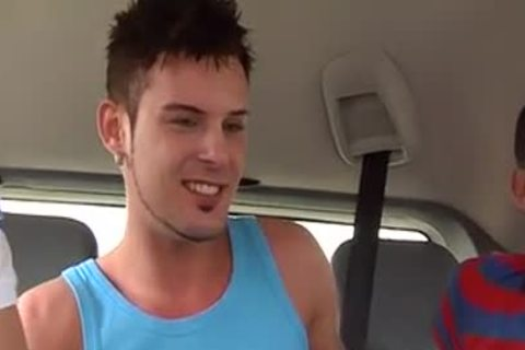 outstanding stunning 3some Sex In The Car