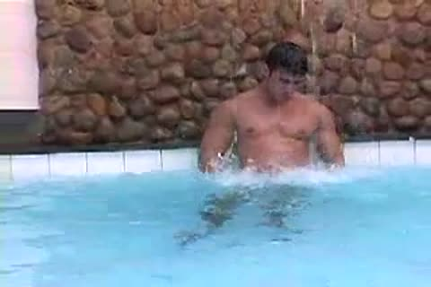 A Jerk Off Beside The Pool At Gay Male Tube