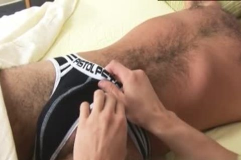 Luscious guy receives A good handjob