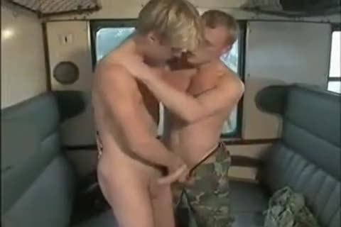 Military blonde And teach