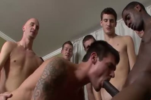 Interracial group-sex Ends With facual cumshots