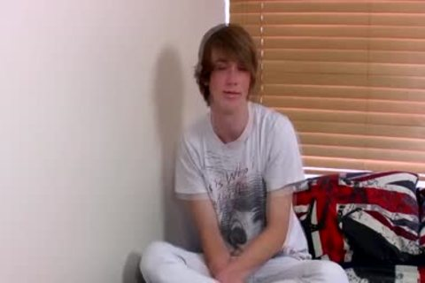 Ginger Emo teen Kai Alexander Pleasures Himself On A sofa