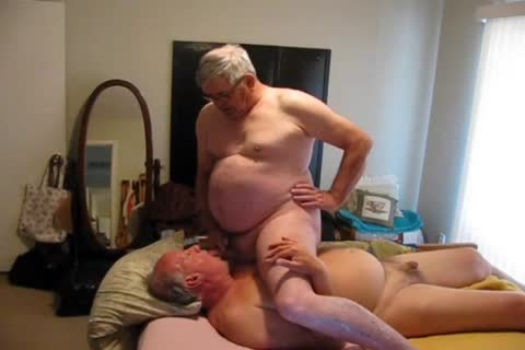 Two old men Playing In sofa