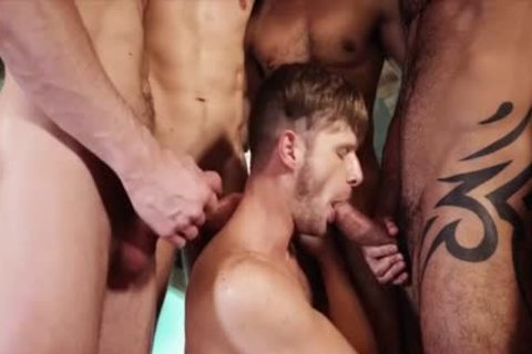 attractive gays 3some With cumshot