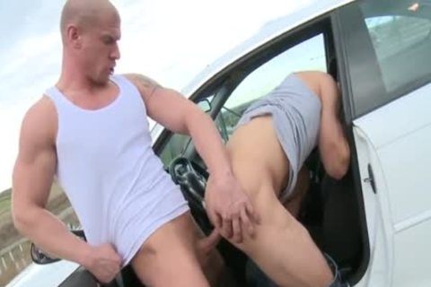 Large cock daddy ass stab and ejaculation