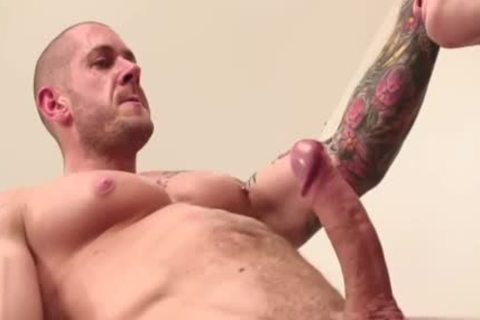 Muscle homo anal job With ball batter flow