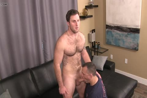 slutty, hirsute lad Sucked And Rimmed