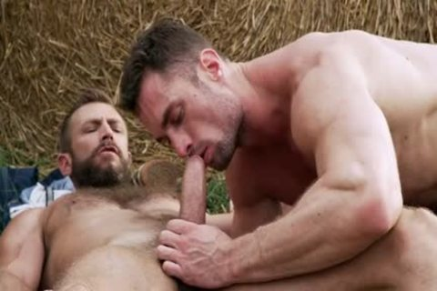 Muscle homosexual wazoo To throat And Creampie