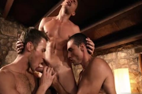 sexy gay double penetration And ball cream flow