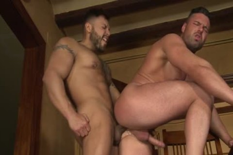 Latin Bear fellatio-service And goo flow