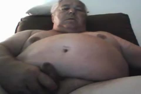 grandad stroke On webcam