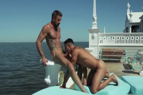 Tattoo gay ass invasion And cumshot