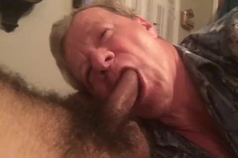 Fag Sucks BBC, Balls, ass, And Takes 2 sperm facials