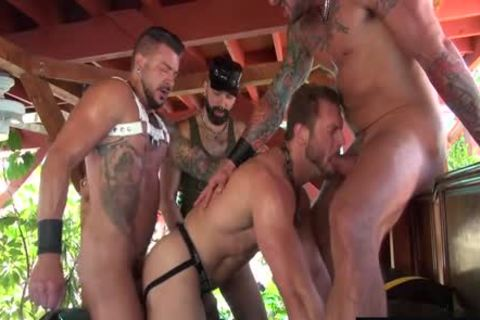 Tattoo ramrod piss And cumshot