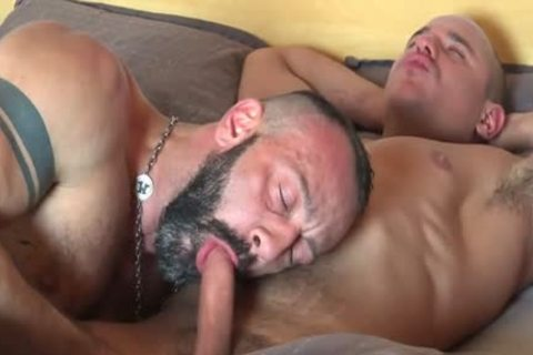 massive dick Bear Fisting With cumshot