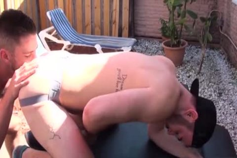 hairy Son ass rimming And ejaculation