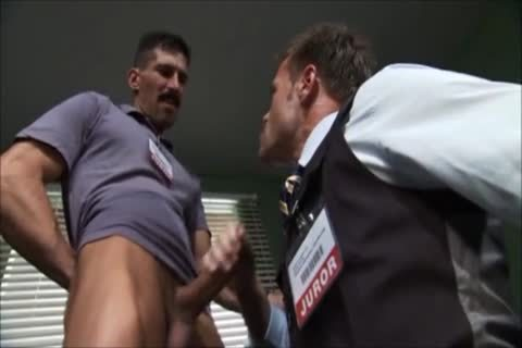 The Jurors engulf A large dick!