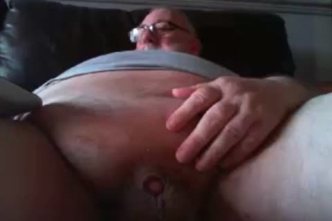 old man stroke On webcam
