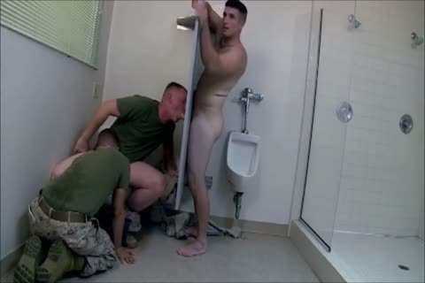 Army Gloryhole threesome