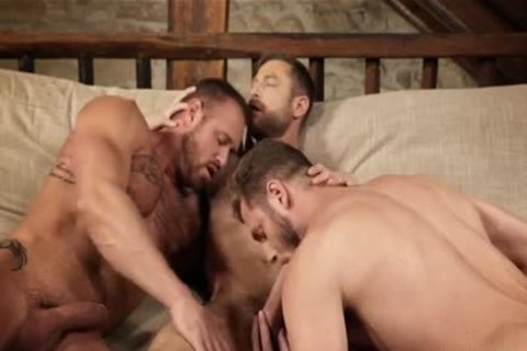 muscular trio bare And Creampie