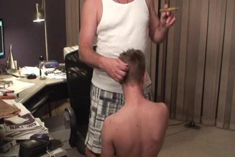 Daddy gets Serviced while Smoking