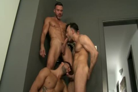 Muscle homosexual Flip Flop With Facial cum