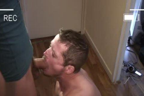 Muscle gay oral sex-job With Facial