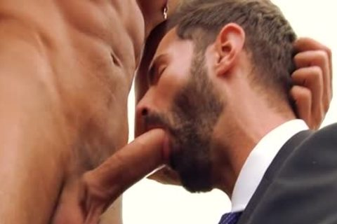 large dong homosexual oral sex And Facial
