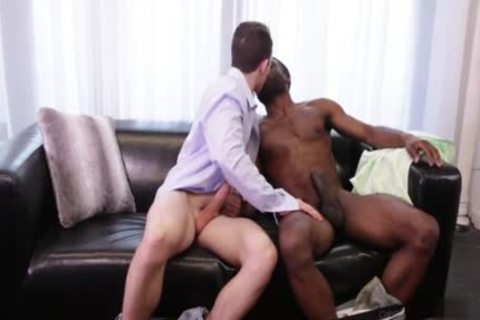 Cute gay men interracial plowing
