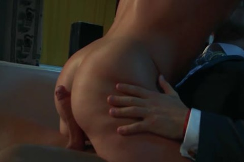 Tattoo son ass and ejaculation