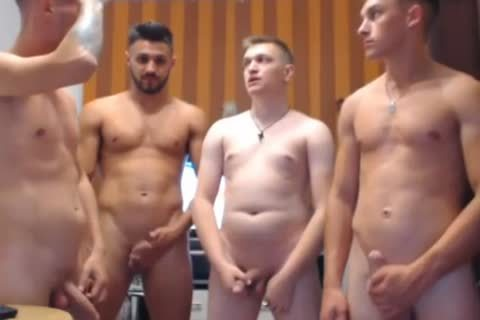 group Of boyz Mill About With Their cocks Out