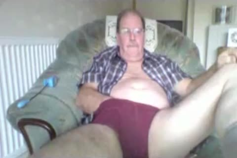 older man stroke On cam