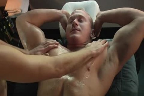 Muscle gay oral stimulation-job And Massage