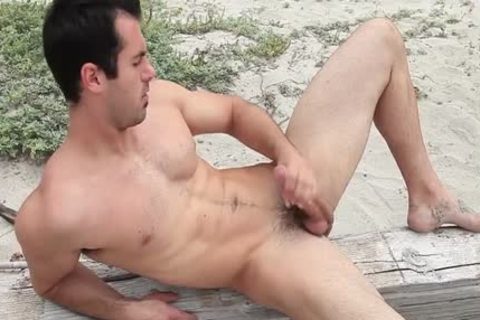 Hung Brock Cooper Jacks His ramrod At The Beach