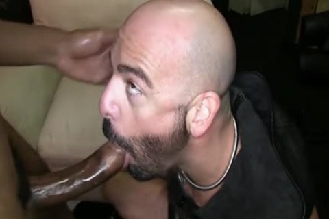 Muscle slave ass-copulation With cum flow
